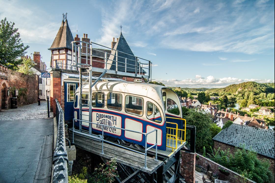 """Bridgnorth Cliff Railway - Shropshire"" stock image"