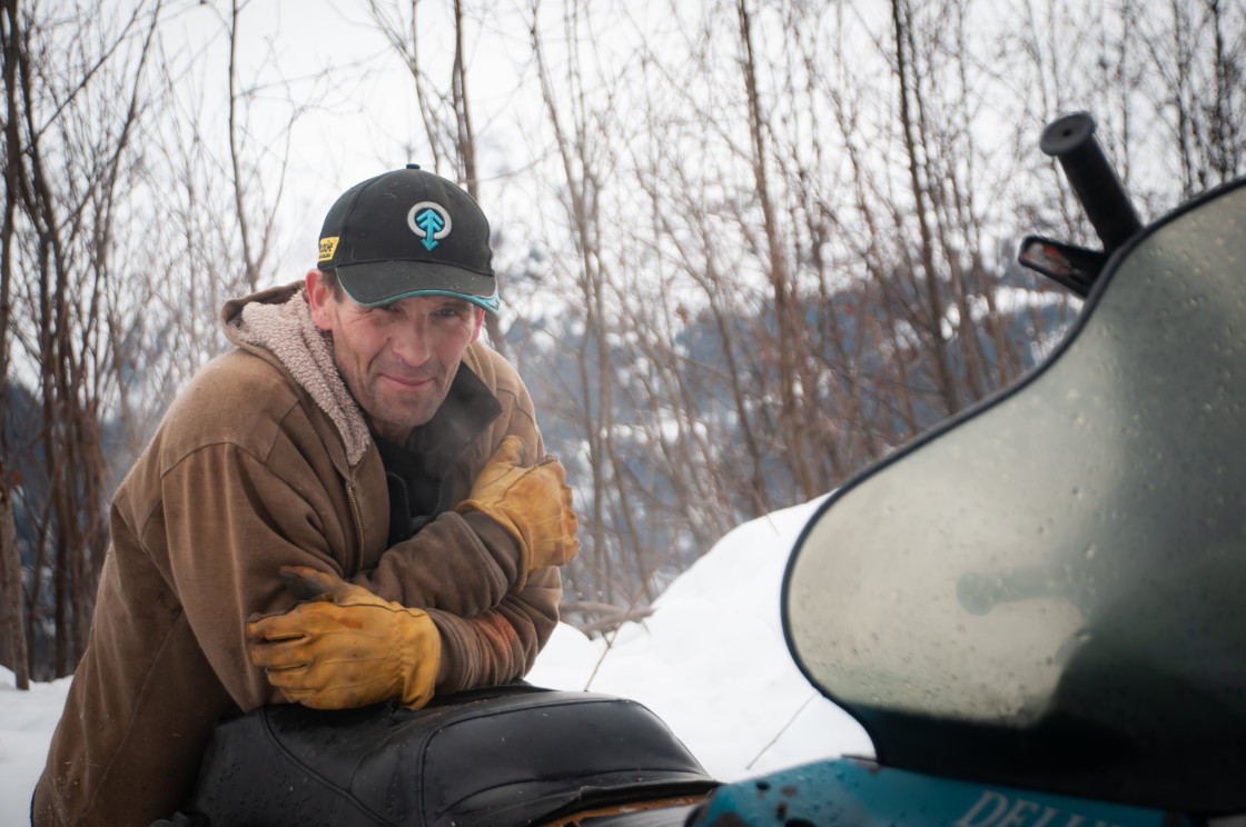 """Portrait of a Sledder"" stock image"
