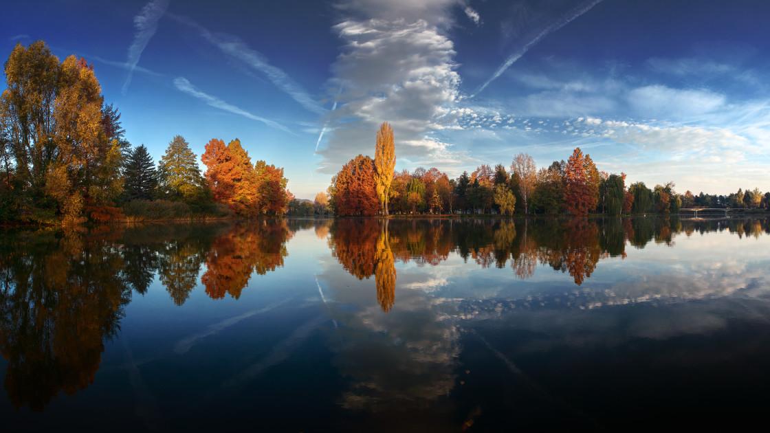 """""""Autumn Mirror II."""" stock image"""