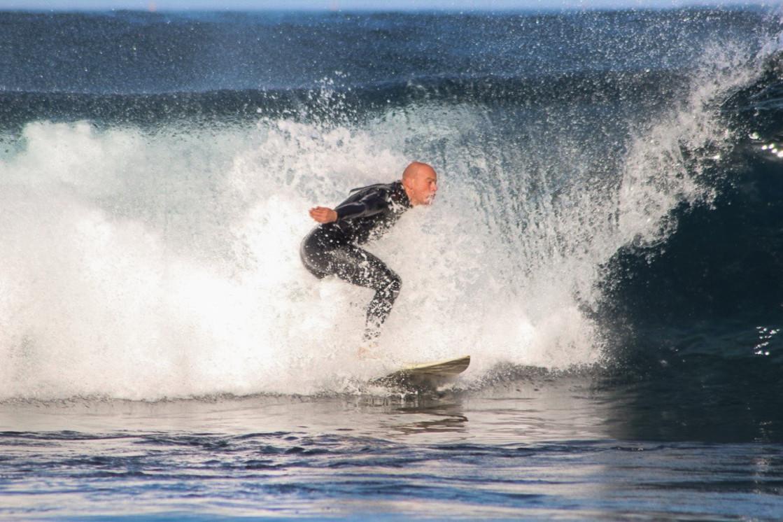 """""""Surfing Playa de Las Americas"""" stock image"""