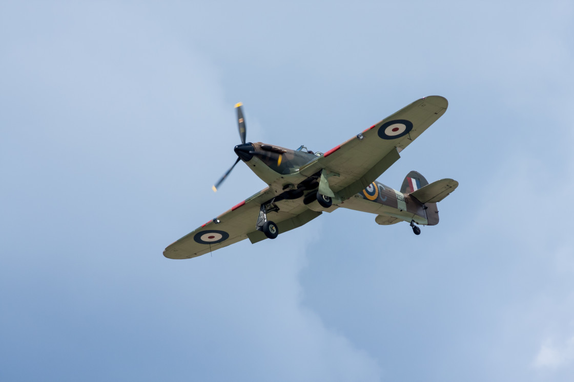 """""""Hawker Hurricane Fighter Aircraft"""" stock image"""
