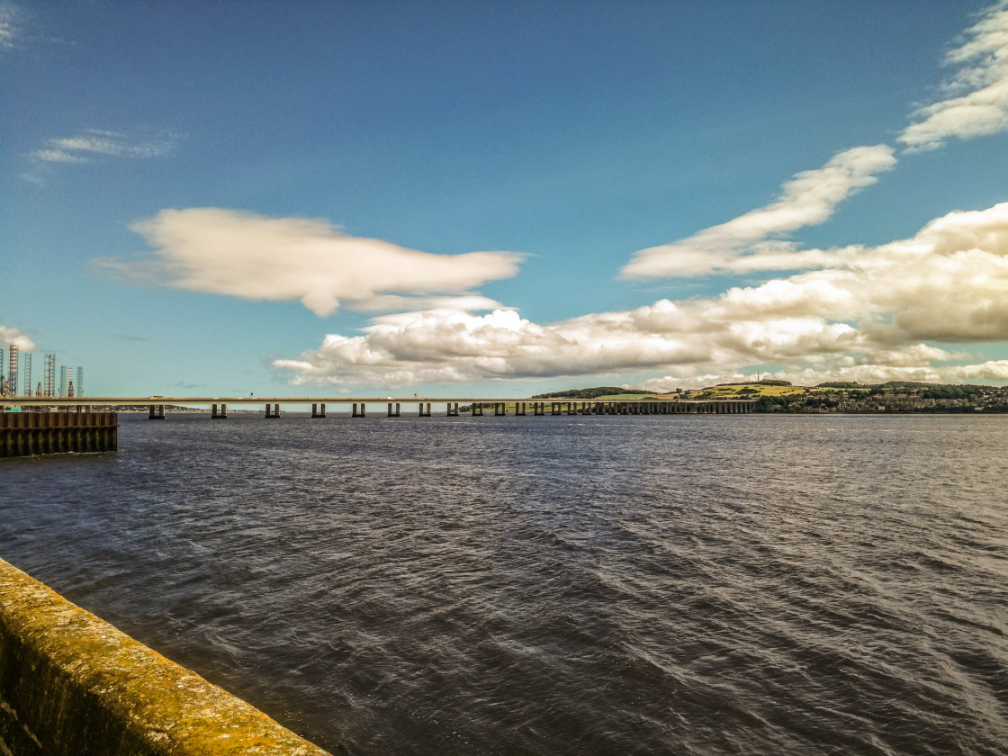 """""""Viewing away from Dundee"""" stock image"""