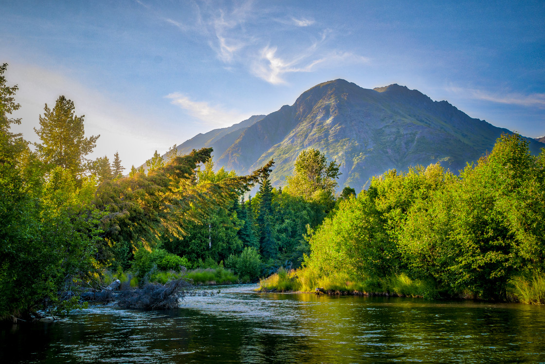 """Quartz Creek Alaska"" stock image"