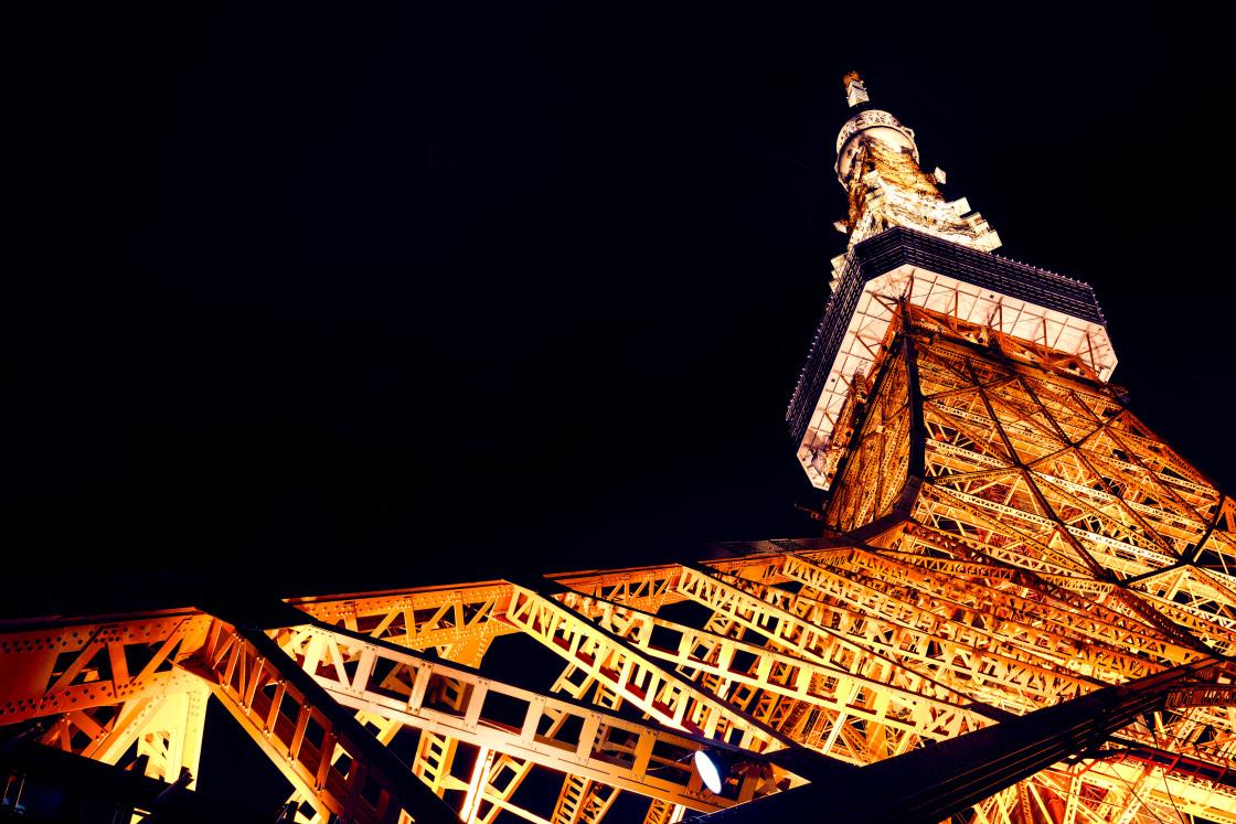 """Tokyo Tower at Night, Japan"" stock image"