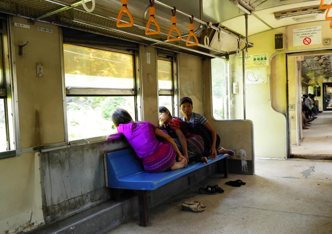 """Burma train"" stock image"