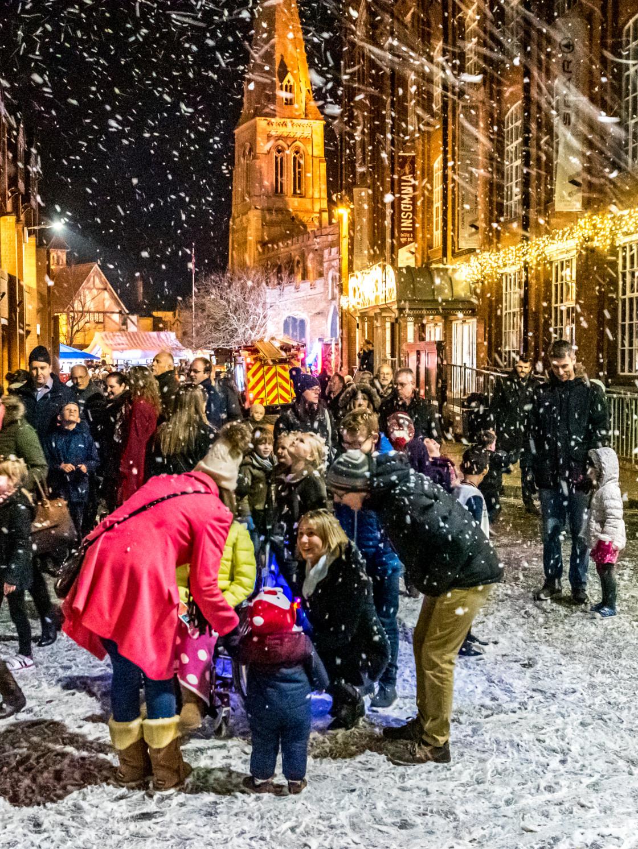 """Market Harborough Christmas Fayre"" stock image"