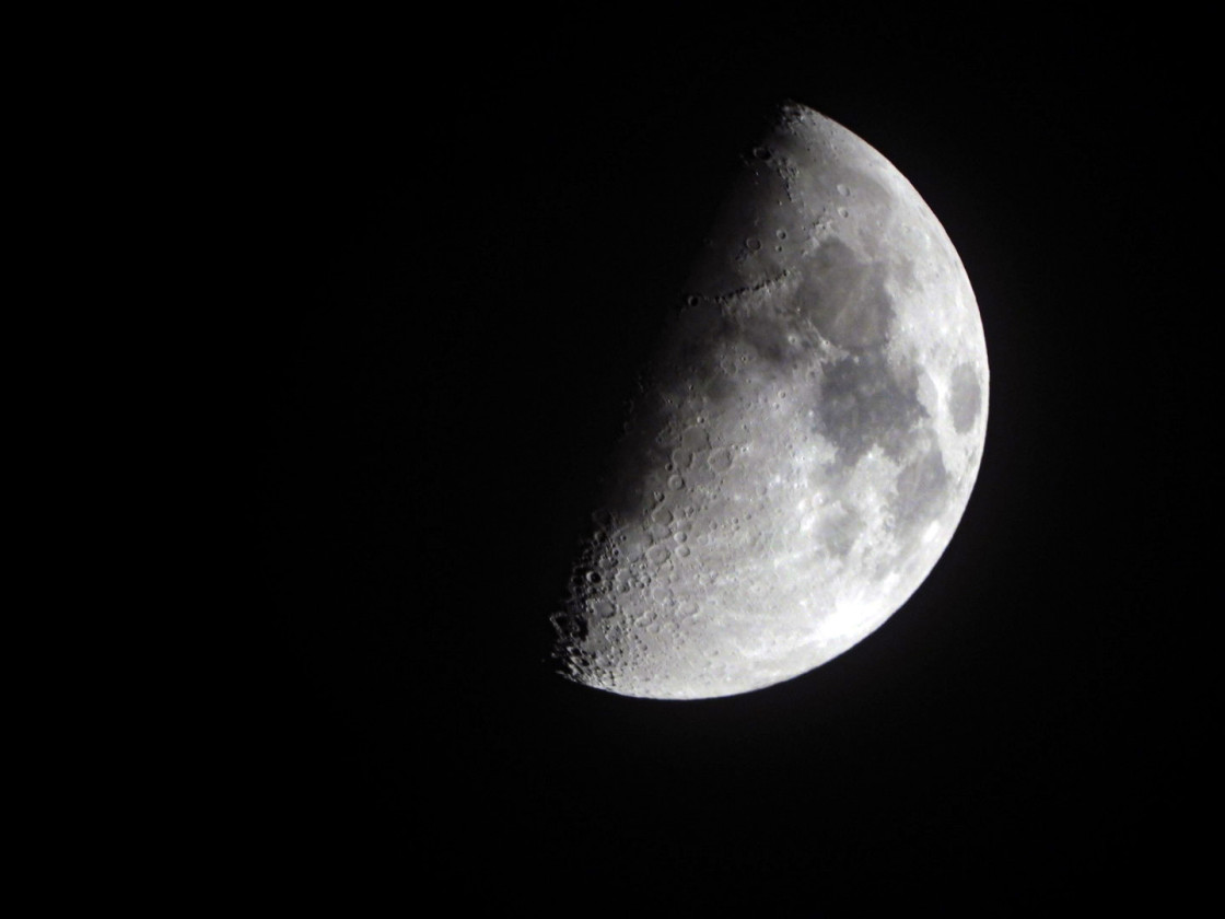 """First Quarter Moon"" stock image"