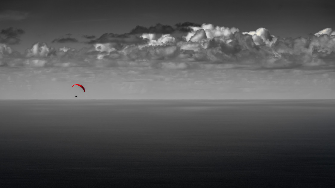 """""""paragliders dream"""" stock image"""