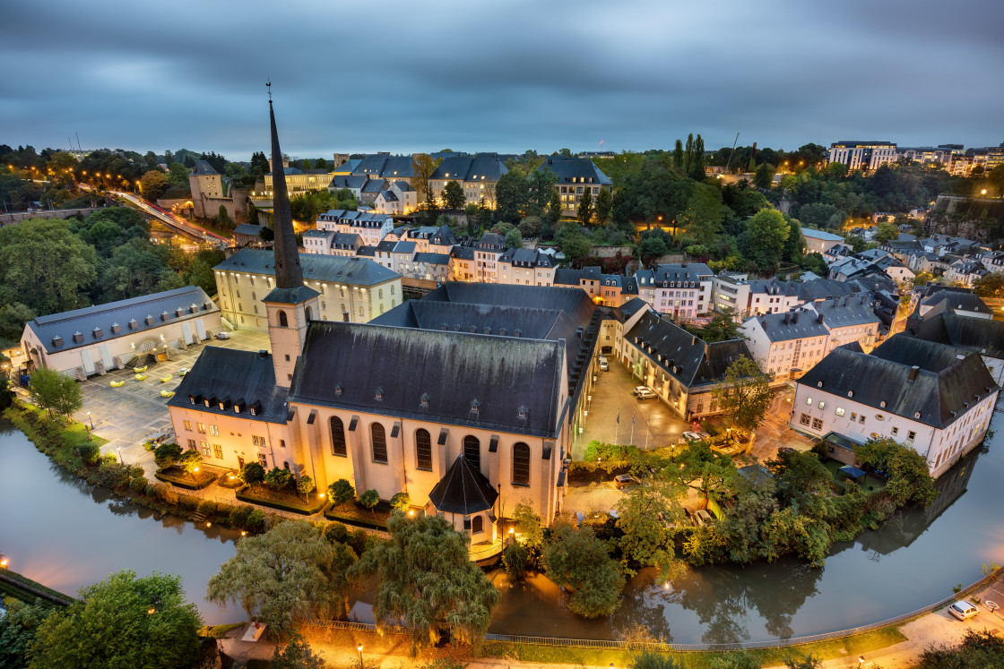 """Luxembourg City skyline"" stock image"