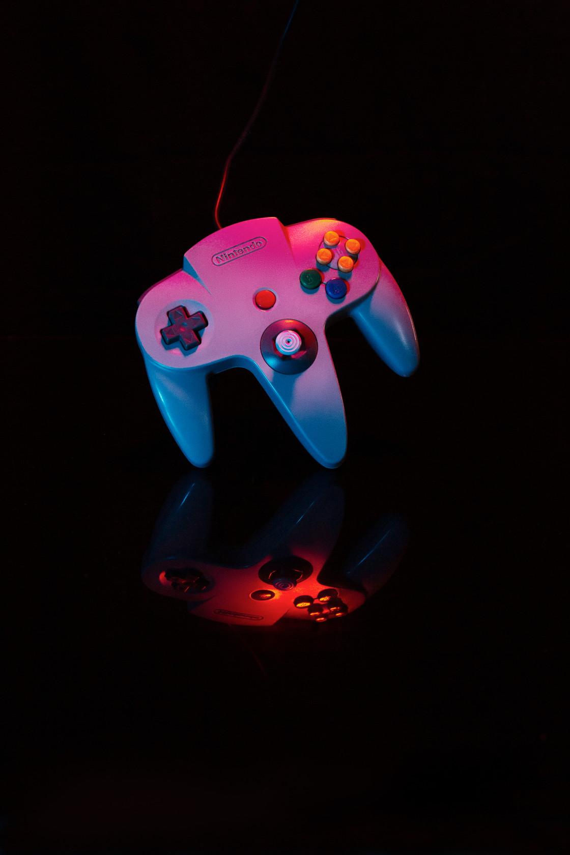 """Nintendo 64 controller"" stock image"