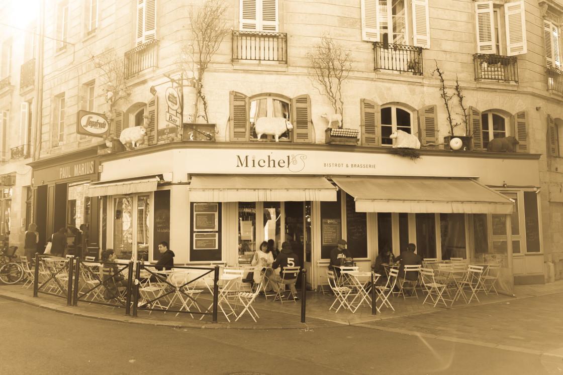 """Bordeaux cafe"" stock image"