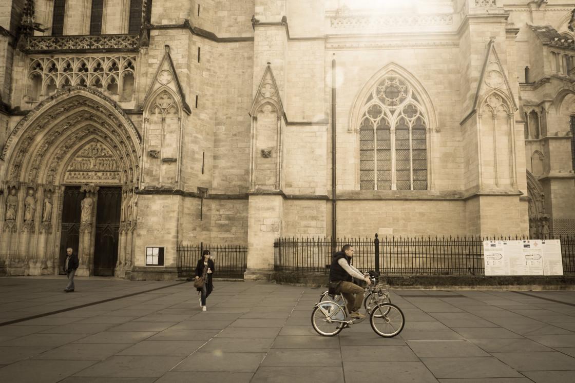 """Cathedrale Saint Andre, Bordeaux"" stock image"