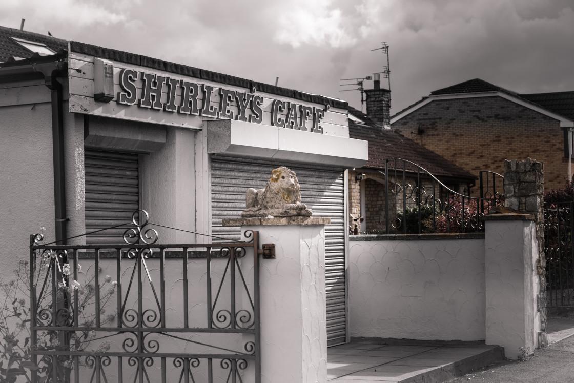 """Shirley's Cafe, Severn Beach"" stock image"
