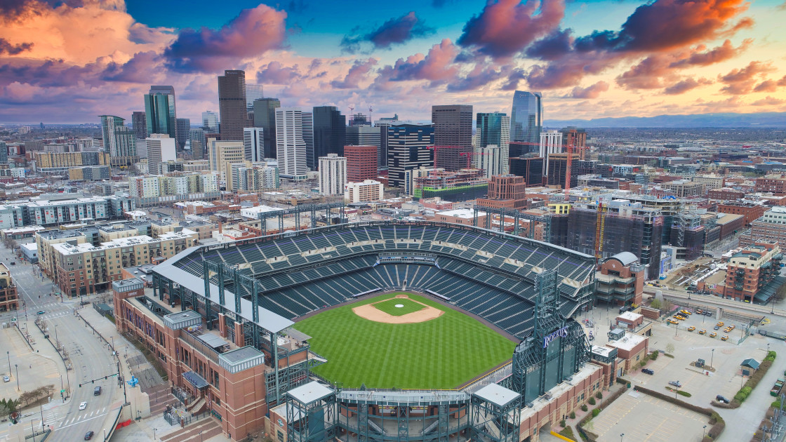 """Coors Field Sunset"" stock image"