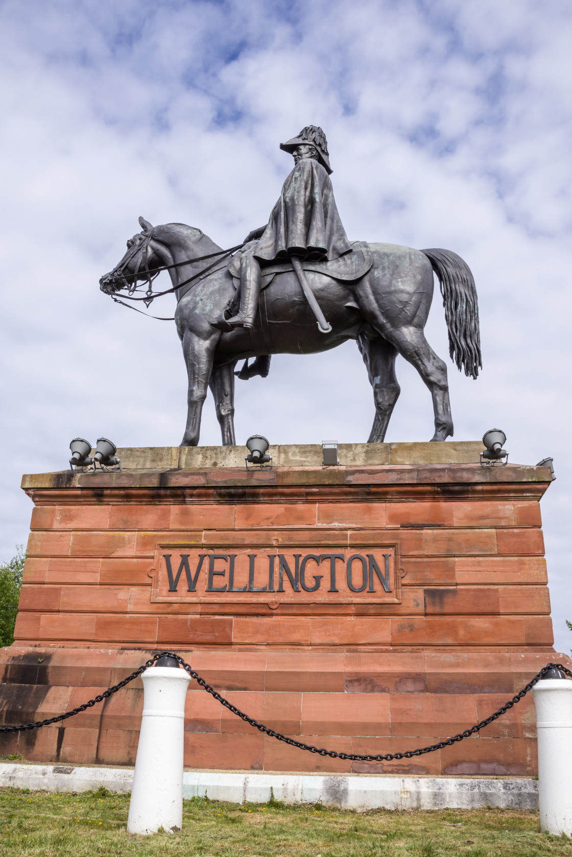"""The Wellington statue"" stock image"