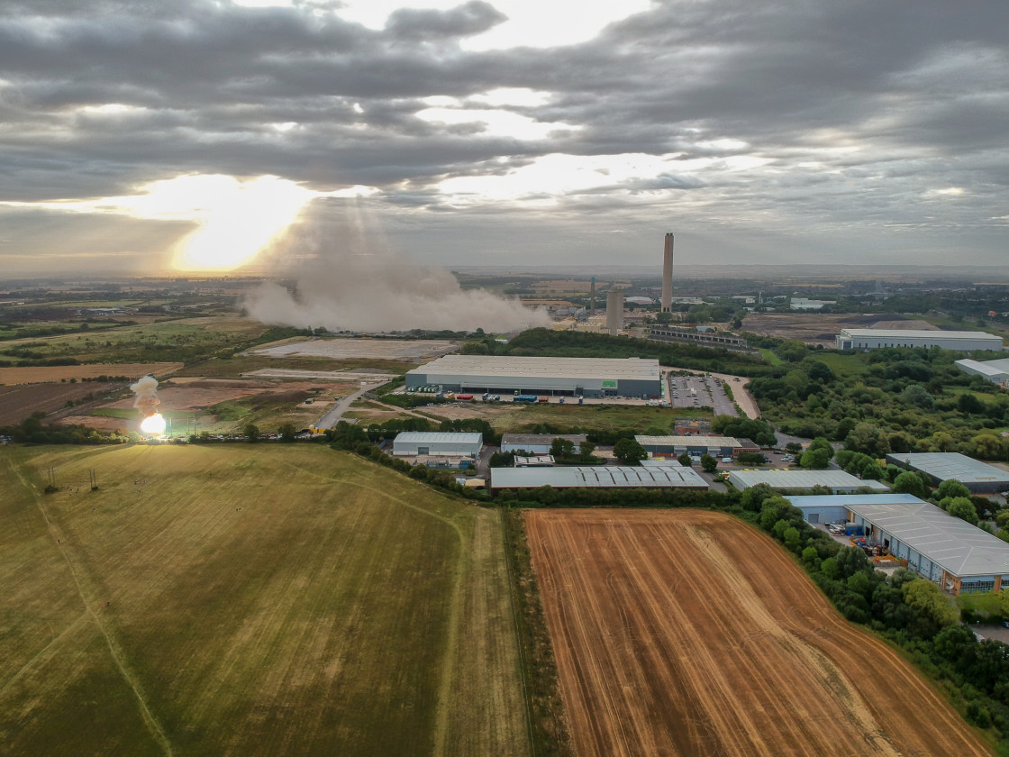 """Didcot demolition and explosion"" stock image"