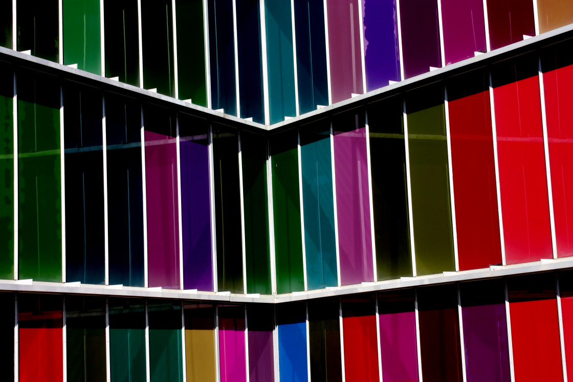 """""""Leon, Spain - The outside panels of the Museum of Modern Art"""" stock image"""