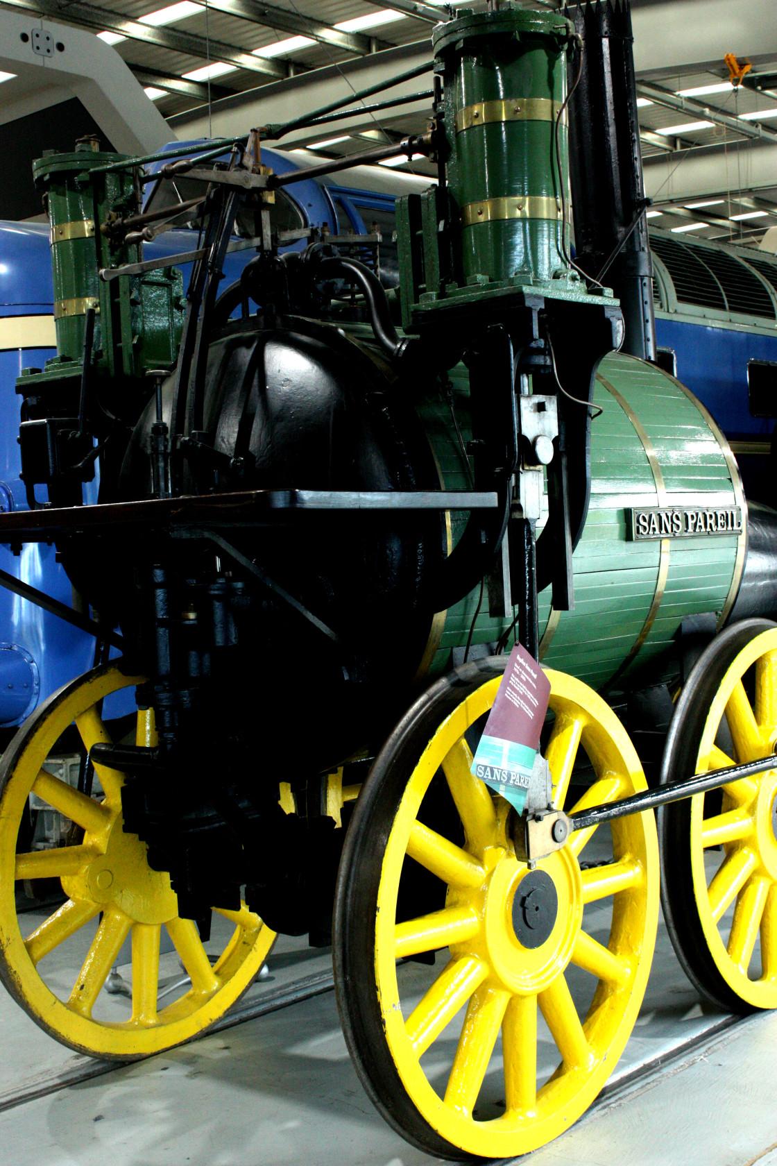 """""""The Locomotive Sans Pareil"""" stock image"""