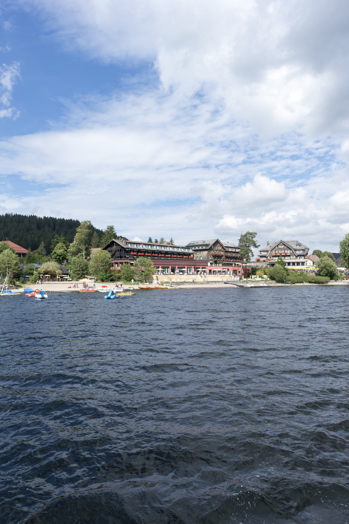 """""""On Lake Titisee in the Black Forest, Germany"""" stock image"""