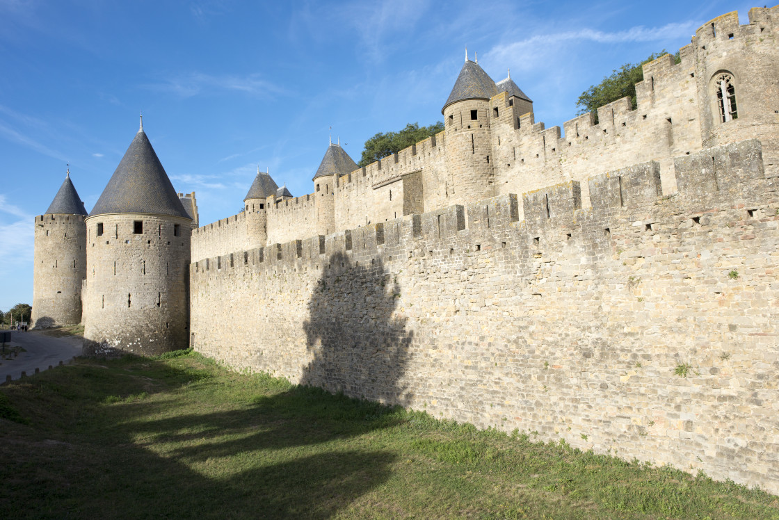 """The pretty village of Carcassonne in France"" stock image"