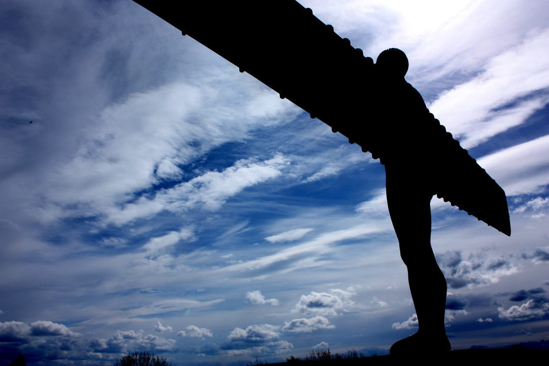 """The Angel of the North at Gateshead in North-East England"" stock image"