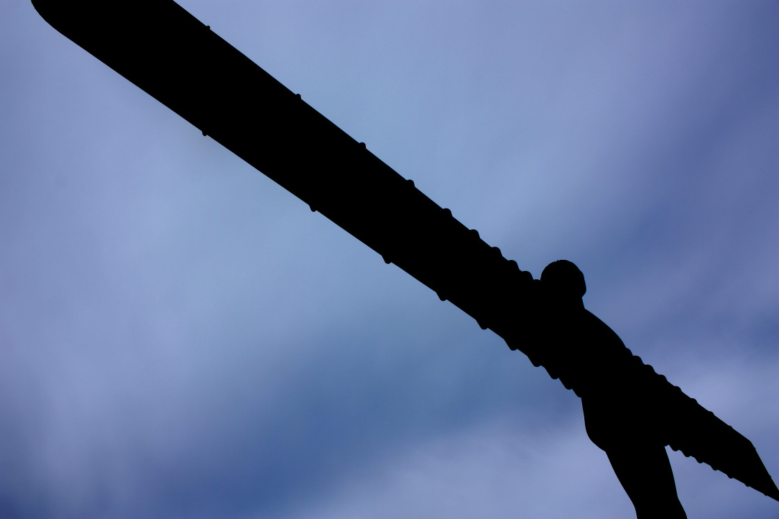 """""""The Angel of the North at Gateshead in North-East England"""" stock image"""