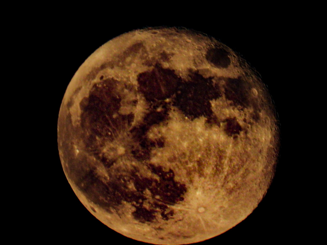 """Strawberry Moon"" stock image"