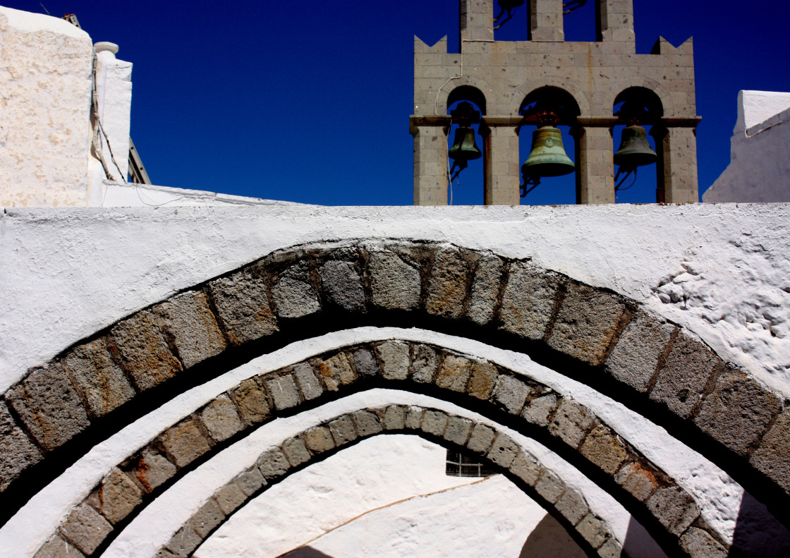 """Arches at the Monastery of Saint John the Theologian in Hora on Patmos"" stock image"
