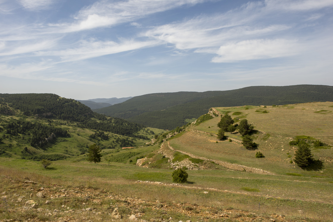 """""""Mountains of Valdelinares a day of Summer"""" stock image"""