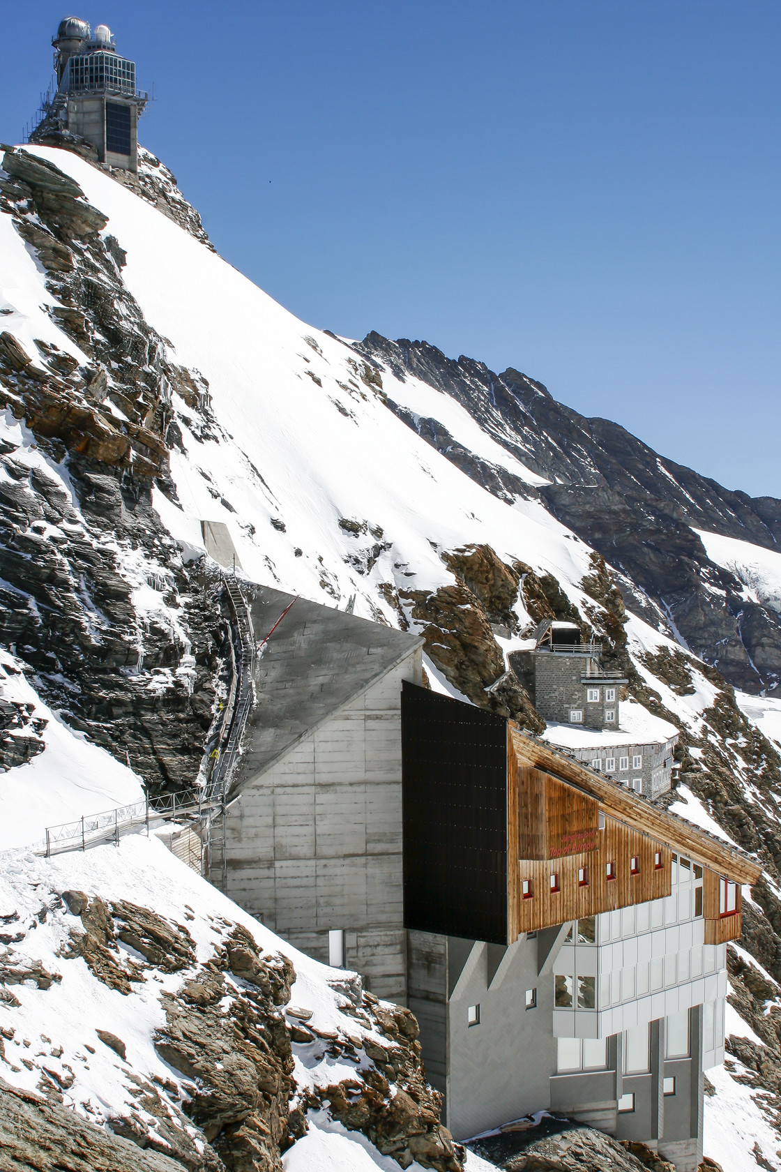 """The Sphinx and Jungfraujoch"" stock image"