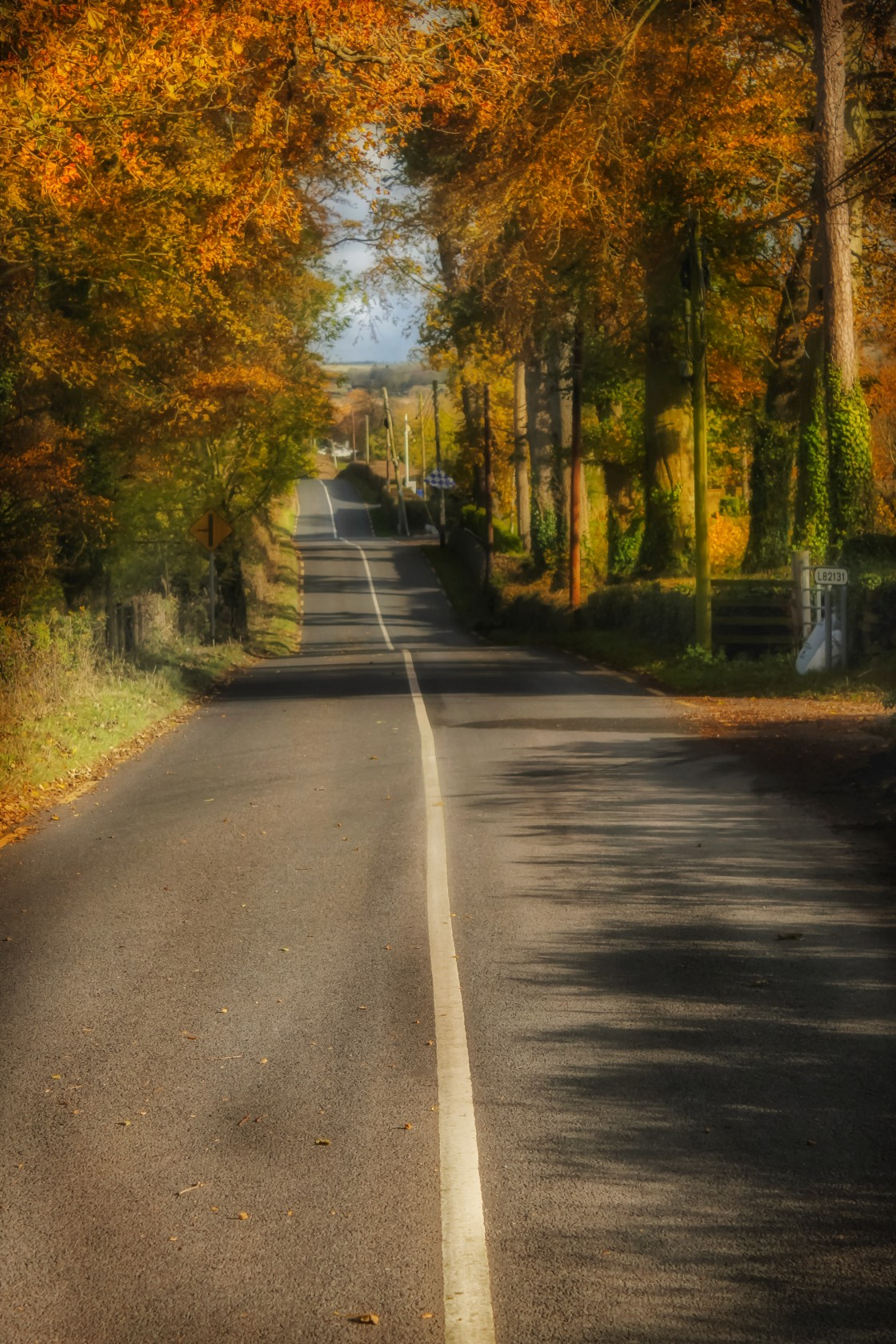 """""""The Long Walk Home."""" stock image"""