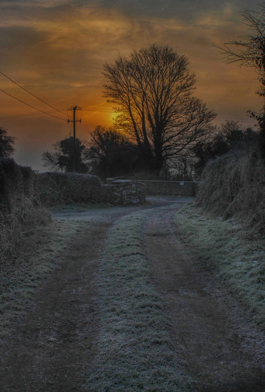 """Winters Sunrise"" stock image"