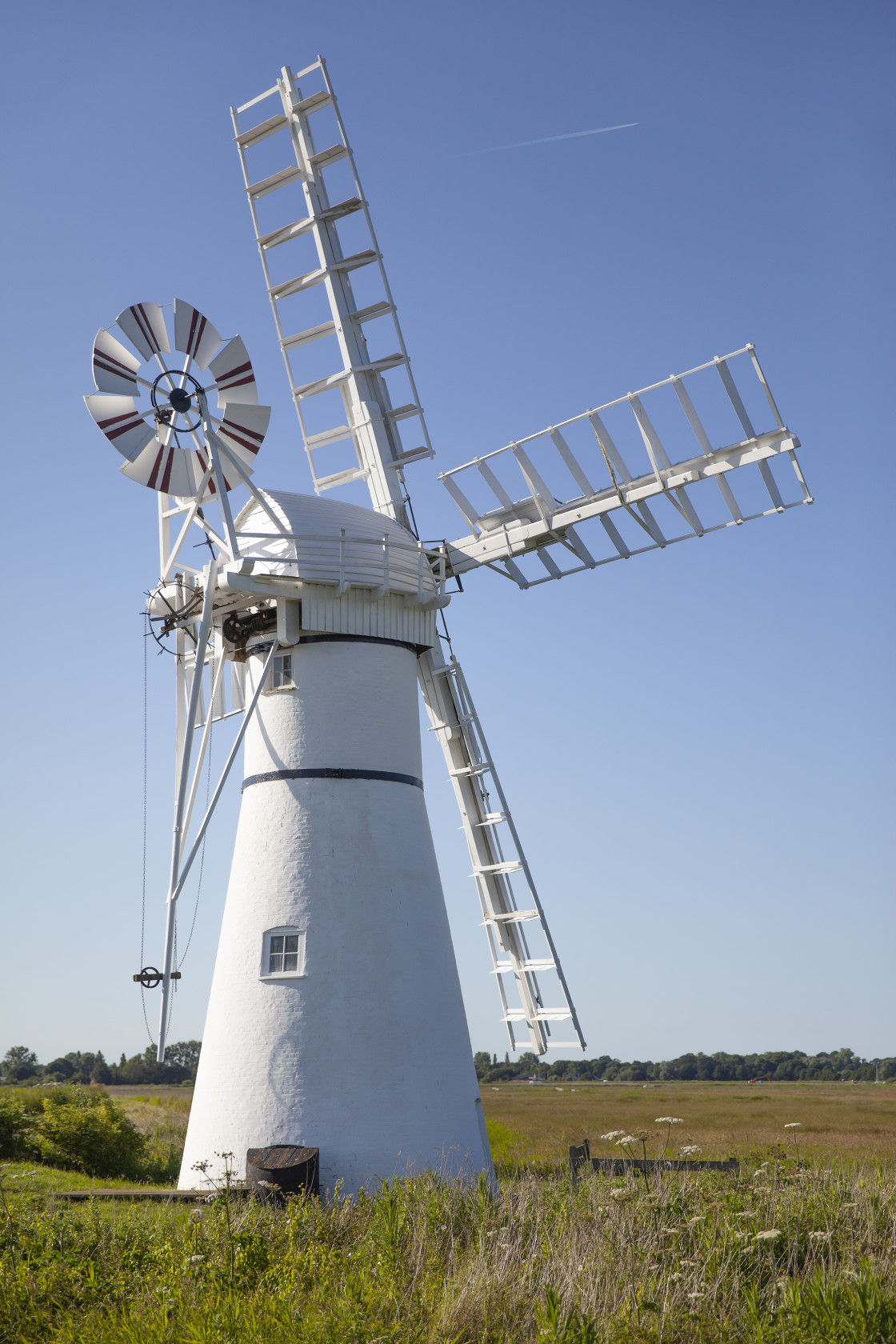 """Thurne Windmill, Norfolk, England"" stock image"