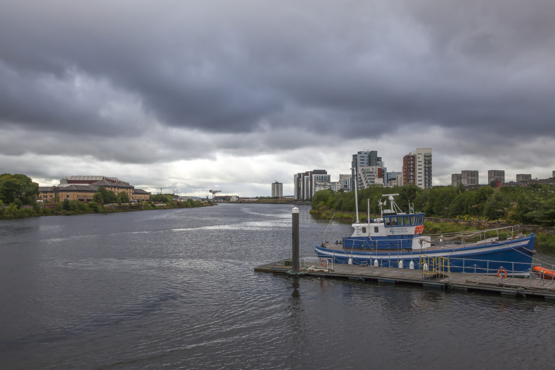 """River Clyde, Glasgow, Scotland"" stock image"