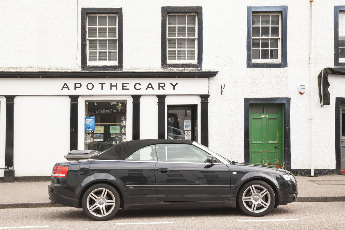 """The Apocethary, Inverary, Scotland"" stock image"
