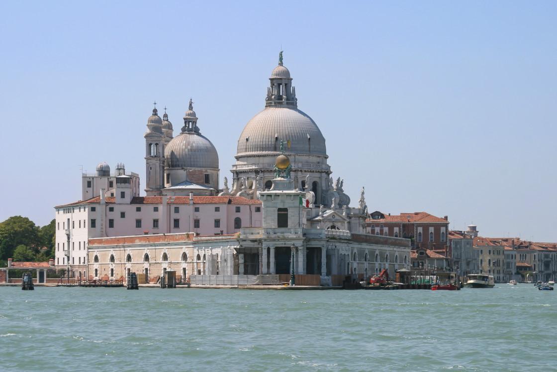 """""""Basilica di Santa Maria della Salute, Venice, Italy"""" stock image"""