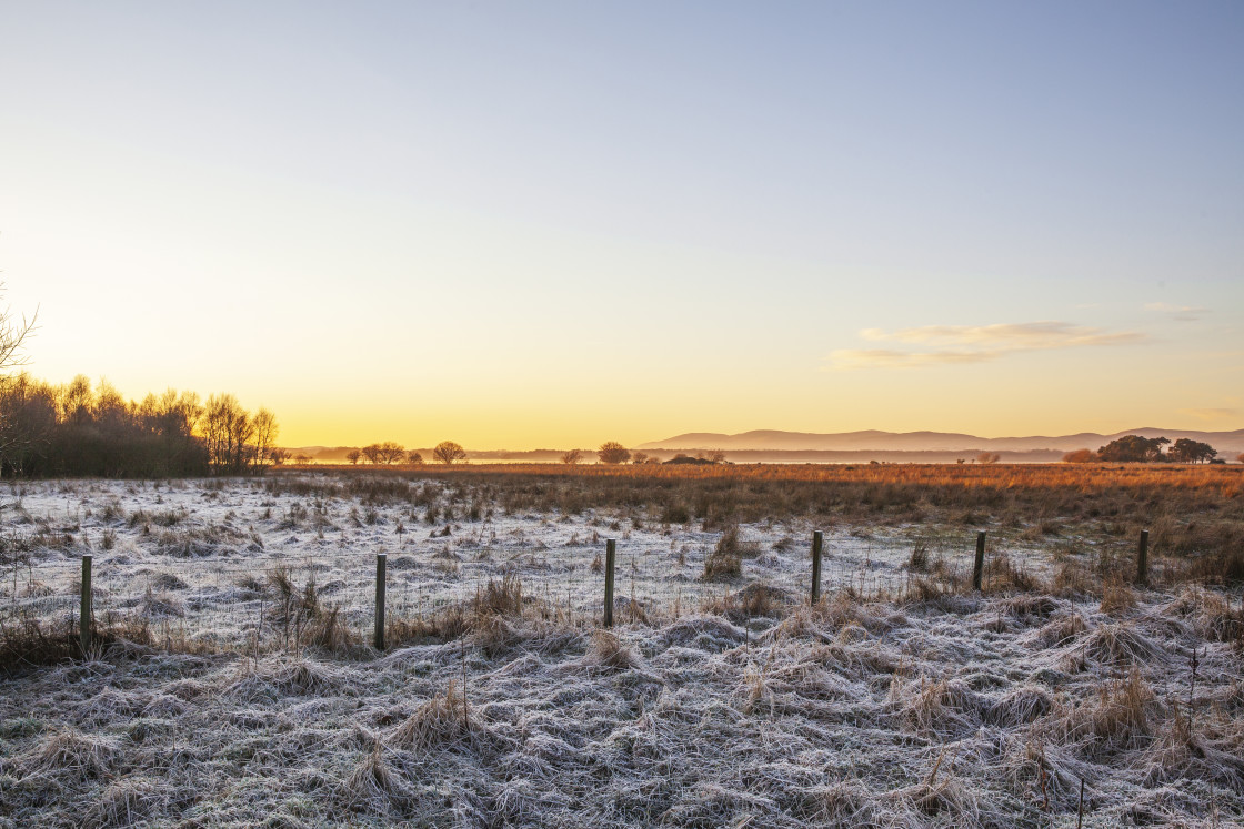 """Towards Loch Leven, Perth & Kinross, Scotland"" stock image"