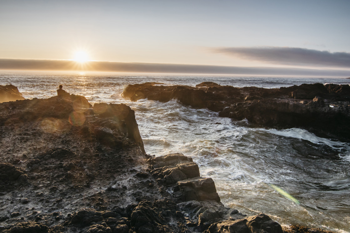 """Cape Perpetua"" stock image"