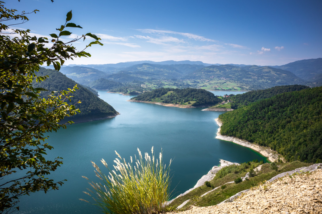 """Viewpoint on the Rovni lake near the Valjevo in Serbia"" stock image"