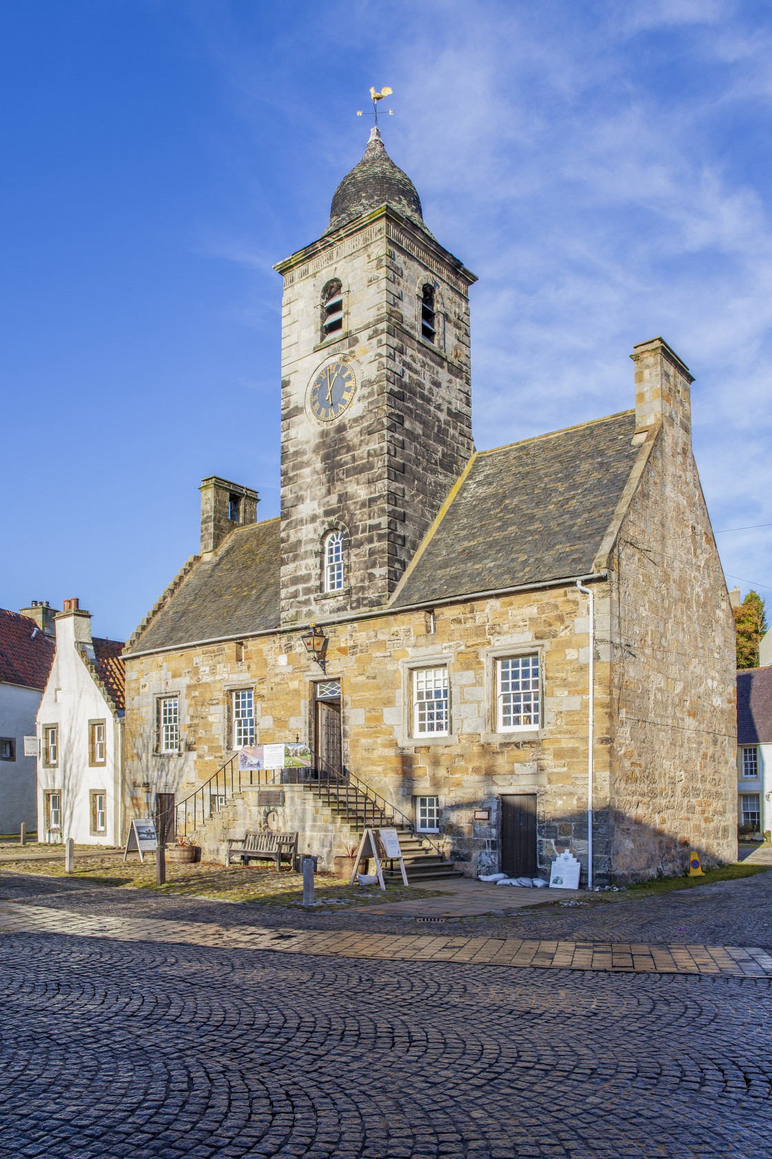 """Culross Town Hall, Fife, Scotland"" stock image"