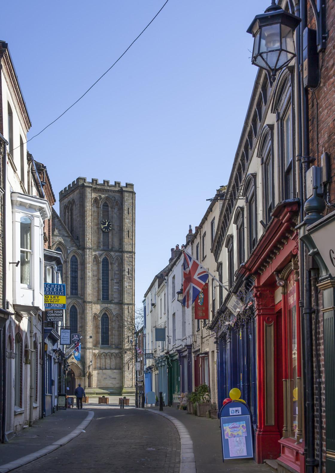 """Kirkgate, Ripon, North Yorkshire, England"" stock image"