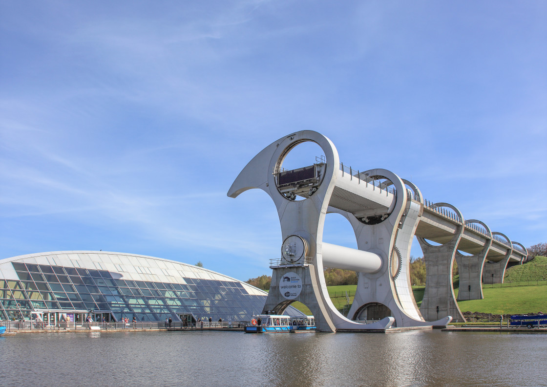 """Falkirk Wheel, Falkirk, Scotland"" stock image"