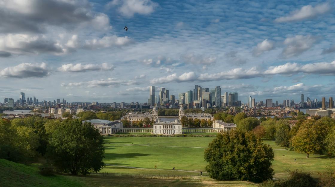"""Greenwich Park Vista Daytime, London"" stock image"