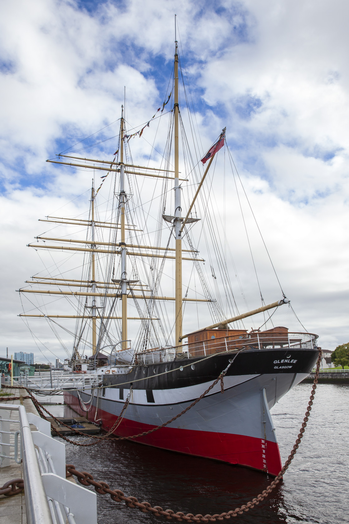 """The 'Glenlee', Glasgow, Scotland"" stock image"