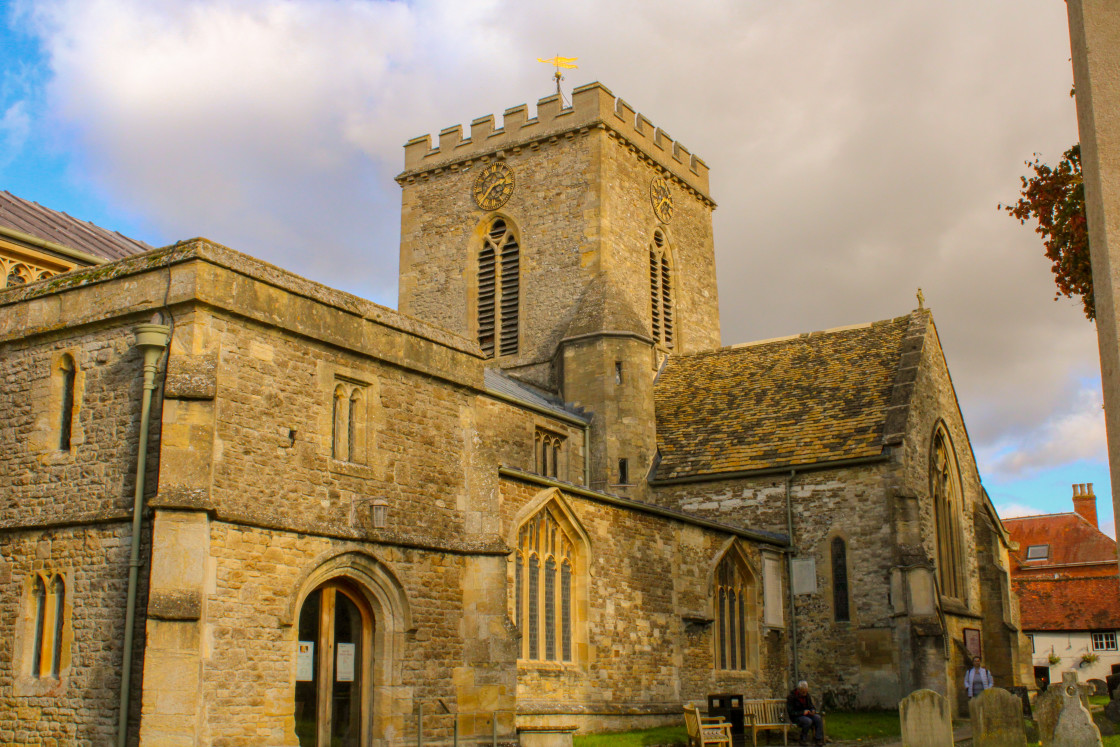 """Church of At Paul and St Peter Wantage, Oxfordshire"" stock image"