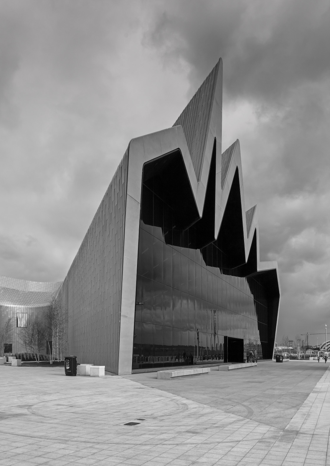 """Riverside Museum, Glasgow, Scotland"" stock image"