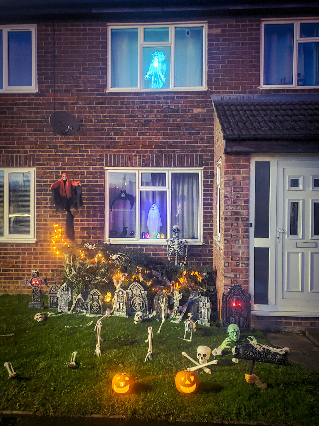 """Halloween front Garden, by M. Brown"" stock image"