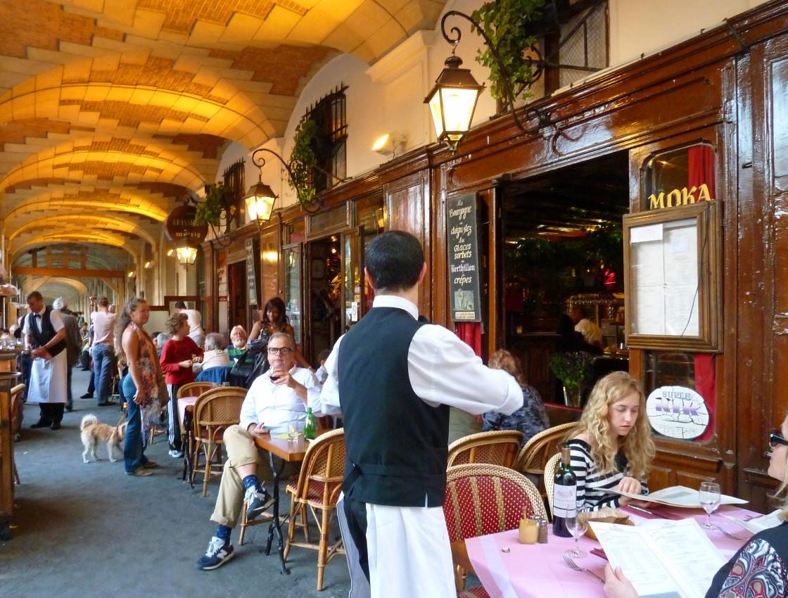 """""""Restaurant Cafe in Place des Vosges Paris France"""" stock image"""