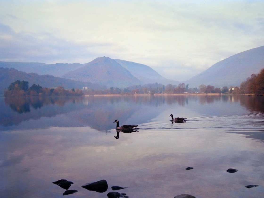 """Lake at Grasmere in the English Lake District"" stock image"