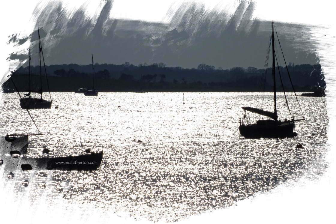 """Aldeburgh Suffolk - Boats on the Estuary"" stock image"